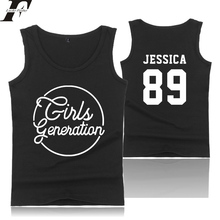 LUCKYFRIDAYF Girls Generation Kpop idol Summer Cotton Vest Fashion Tank Tops Cool Casual Streetwear Fitness O-Neck 4xl