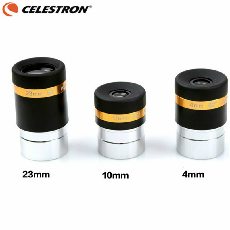 CELESTRON 1.25 62 Degrees 4mm 10mm 23mm Eyepiece Lens Aspheric Wide Angle HD Multi-Coated Ocular Adapter Astronomical Telescope eschenbach aspheric ii