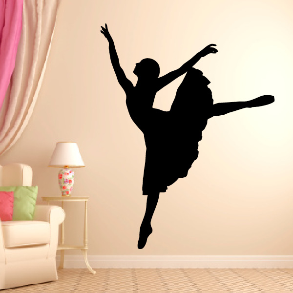 Wall Stickers Classic Ballet Pose Wall Stickers For Bedroom Waterproof Removeable Vinyl Art Home Decoration For Teens Girls Za014 Promote The Production Of Body Fluid And Saliva Home Decor