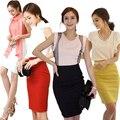 Falda de moda para mujeres hasta la rodilla para adelgazar cintura alta OL lápiz faldas XS-XXXL
