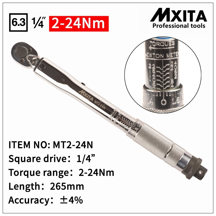 MXITA  Adjustable Torque Wrench  Hand  Spanner Wrench Tool car Bicycle repair tools 1 4inch drive 4 14n m torque wrench torque spanner ratchet wrench for repairing bicycle packed in plastic storage box