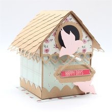 KSCRAFT Birdhouse Explosion Box Metal Cutting Dies Stencils for DIY Scrapbooking/photo album Decorative Embossing DIY Paper Card(China)
