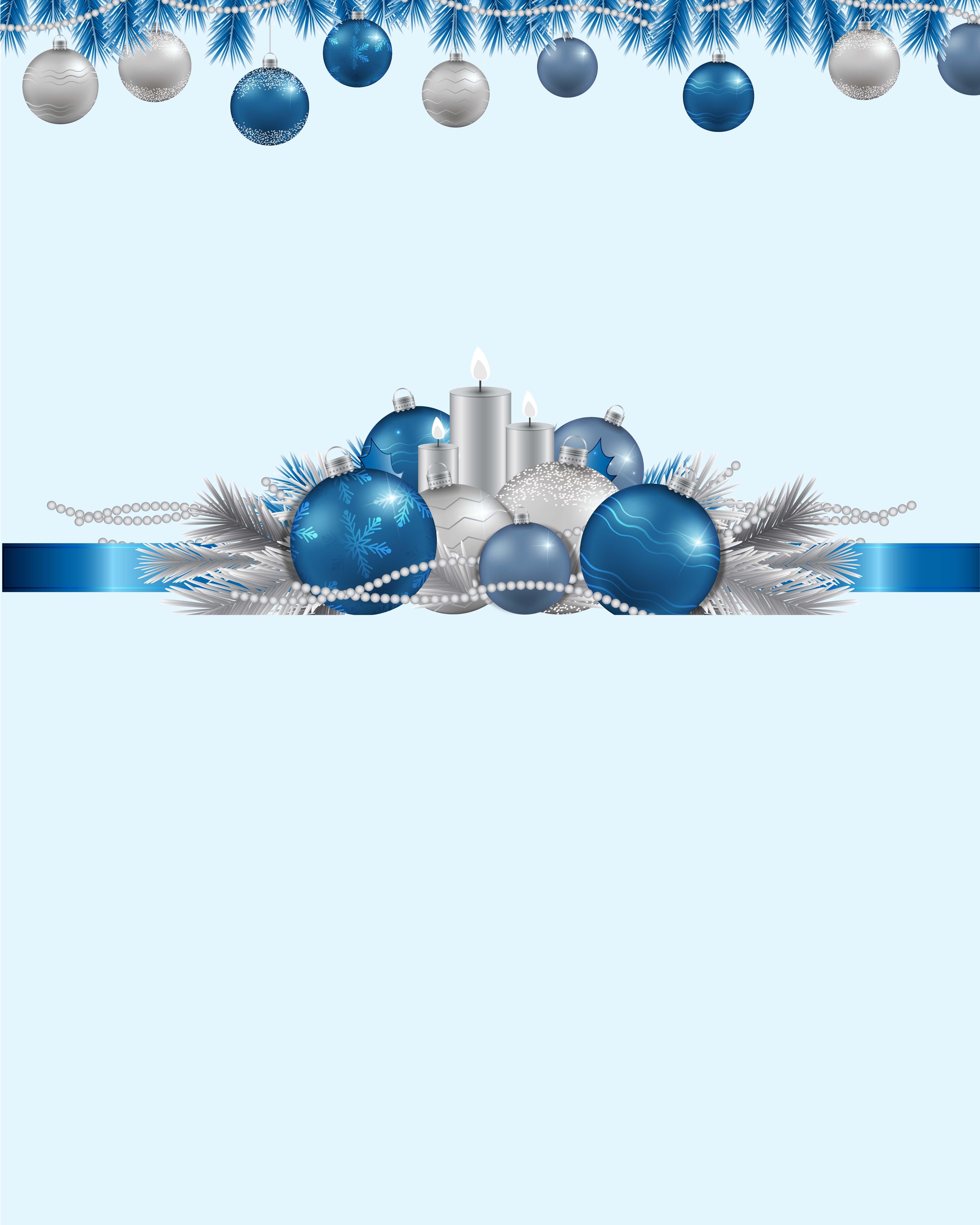 Allenjoy fotografía telones de fondo ornamento marcos azul navidad ...
