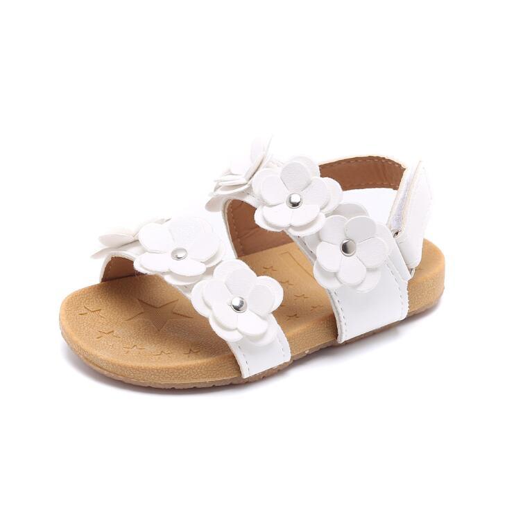 2019 Kinder Sandalen Schuhe Mode Kausalen Flache Baby Sandalen Sommer Blume Weichen Boden Kind Mädchen Sandale Schuhe