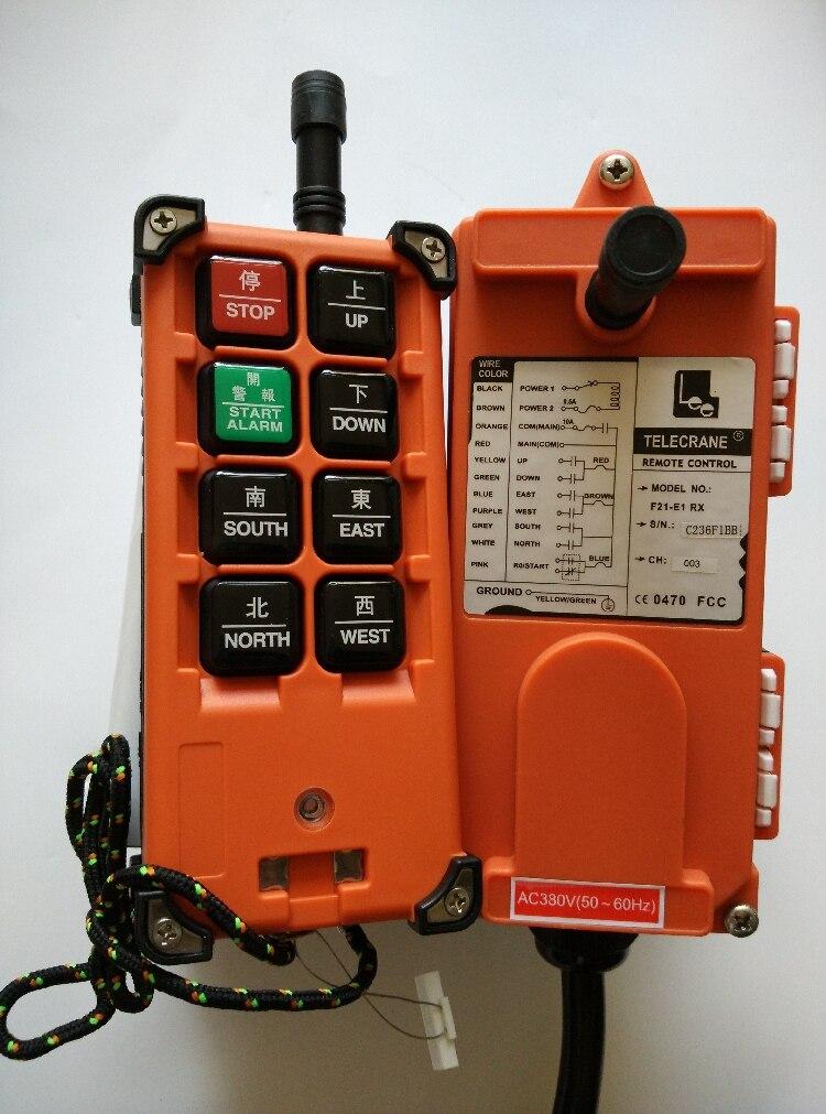 380v Telecrance F21 E1B промышленное радио дистанционное управление для крана-in Детали и аксессуары для мотовездехода from Автомобили и мотоциклы
