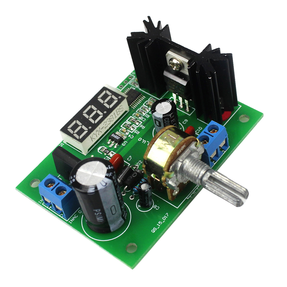 AC/DC-DC LM317 Adjustable Voltage Regulator Step Down Power Supply Module with LED MeterAC/DC-DC LM317 Adjustable Voltage Regulator Step Down Power Supply Module with LED Meter