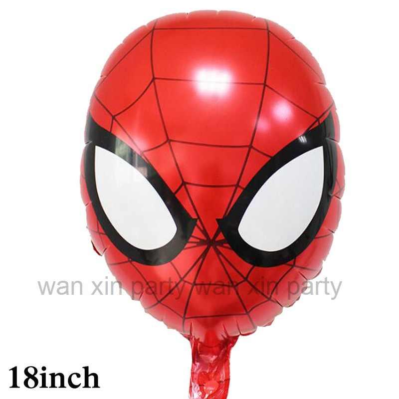 100 stücke Avenges party ballon kopf hulk folie ballons captain america ironman spiderman helium ballons für partei dekoration