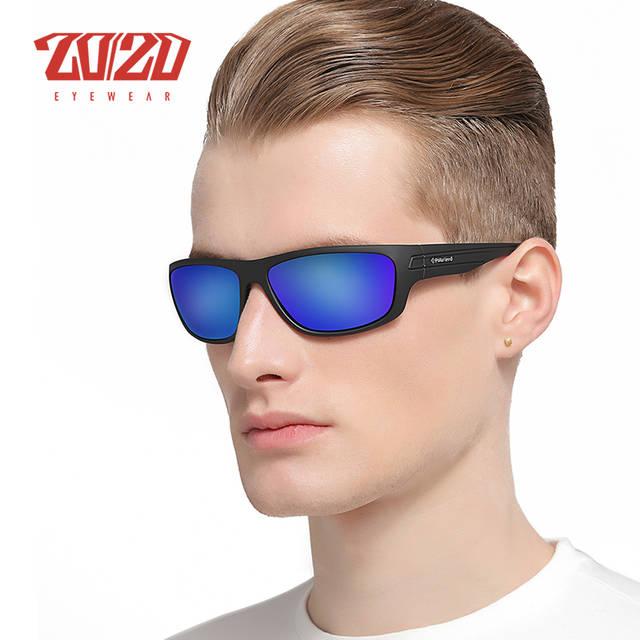 placeholder 20 20 Óculos Polarizados Homens Marca Designer Azul Lens Homens  Óculos de Sol Clássicos De 5be6db4c8b