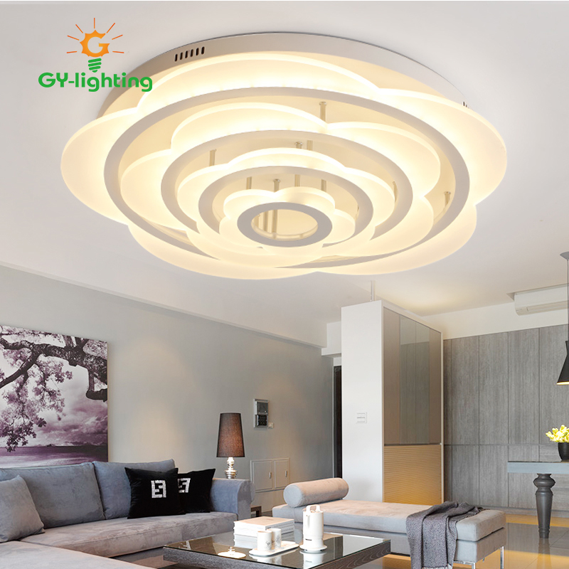 Modern LED Ceiling Lamp White Flush Mounted Acrylic Ceiling Light Lustre  For Bedroom Living Room Home