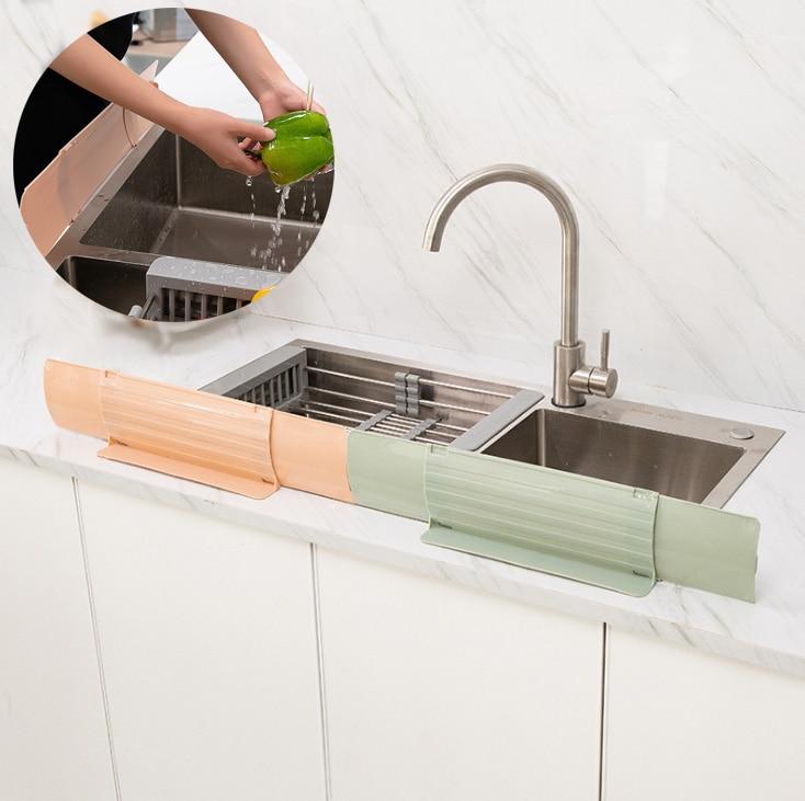 Kitchen Sink Splash Guard Flexible Water Splatter Screens Kitchen Appliances Suction Baffle Kitchen Oil Screen Splatter Shield