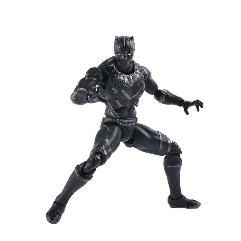 SHF SHFigurts 17cm Super Heros Civil War Ant-Man Black Panther Movable Action Figure Toys Doll Collection Christmas Gifts