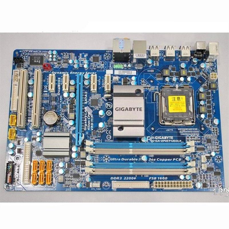 For Gigabyte GA EP45T UD3LR Original Used Desktop Motherboard EP45T UD3LR P45 Socket LGA 775 DDR3