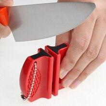Портативная мини-точилка для кухонных ножей, кухонные инструменты, аксессуары, креативная Двухступенчатая походная точилка для карманного ножа