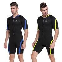 6a345c6df SBART Neoprene Wetsuit Men Snorkeling Surf Mergulho 2mm One Piece Suit  Diving Equipment Short Wetsuits For