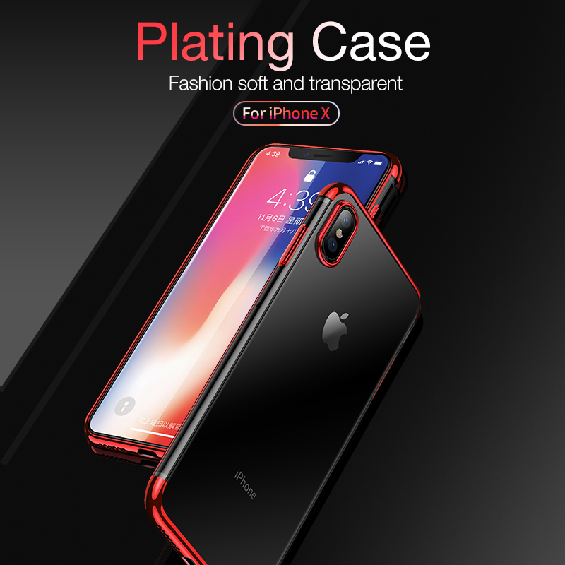 Shockproof Plating Clear Silicone Phone Cases for iPhone 11 Pro MAX XR X XS MAX Soft TPU Cover for iPhone 6 6s 7 8 Plus 10 Logo 2
