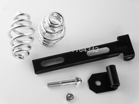 Free Shipping Black Solo Seat Mount Kit Bracket With 3 Barrel Spring For Harley Softail Custom