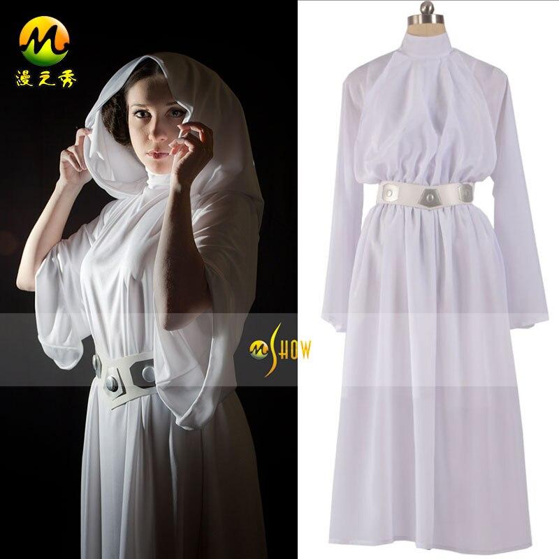 achetez en gros princesse leia blanc robe en ligne des grossistes princesse leia blanc robe. Black Bedroom Furniture Sets. Home Design Ideas