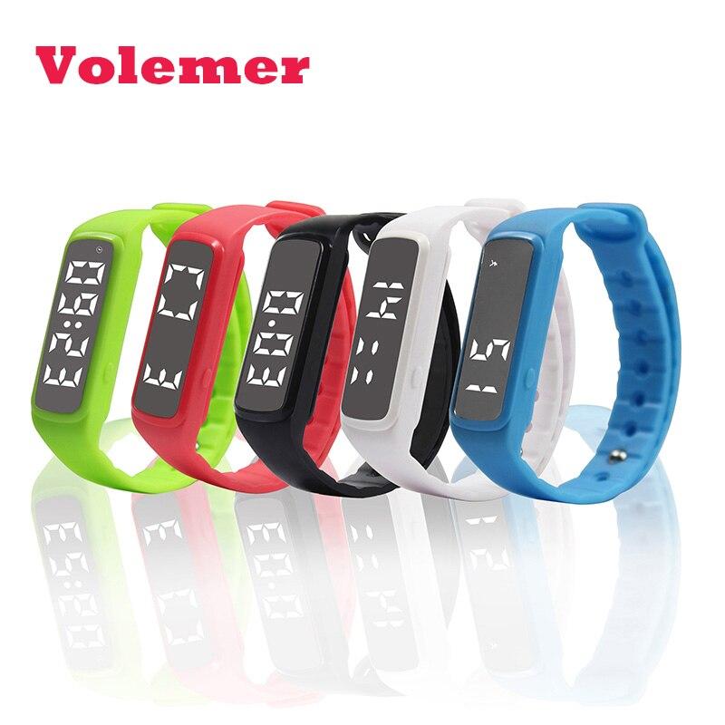 Volemer CD5 Sport Smart Watch Pedometer LED Children Band Temperature Fitness Monitor Digital Wristband Sleep Monitor