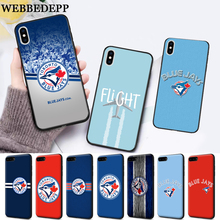 купить WEBBEDEPP Baseball Toronto Blue Jays Logo Silicone soft Case for iPhone 5 SE 5S 6 6S Plus 7 8 11 Pro X XS Max XR дешево