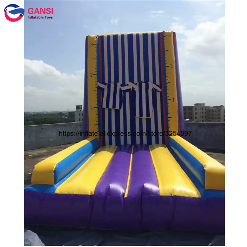 5*4*4m jumping game inflatable stick wall for amusement park waterproof commercial inflatable climbing wall for rental commercial sea inflatable blue water slide with pool and arch for kids