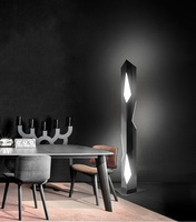 PostModern style living room floor lamp stainless steel geometric cutting LED creative personality bedroom bedside standing lamp