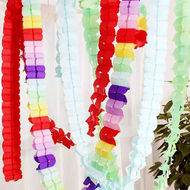 10pcs wedding decoration pink princess theme paper garland puff 10pcs wedding decoration pink princess theme paper garland puff tissue garden birthday party suppliers backdrop hanging junglespirit Gallery