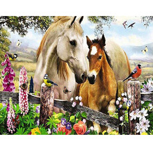 5D Full Diamond Painting Animal Horses picture Cross Stitch DIY  Mosaic Embroidery Handmade Crafts Home Decoration