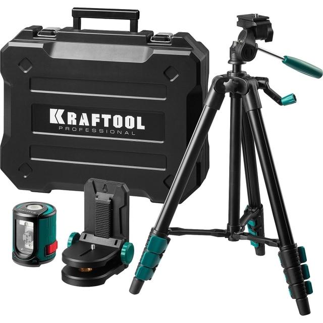 Уровень лазерный автоматический KRAFTOOL 34700-4 (горизонталь, вертикаль и крест, точность 0,2мм-м, штатив)