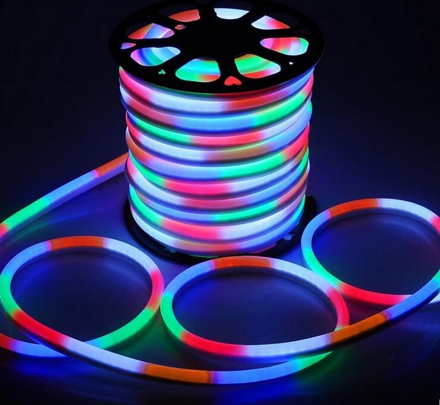 separation shoes 55f4b e09ae US $80.58 32% OFF|Super Mini LED Neon Strip 220V 110V 12V 24V 120LED/M 2835  Flexible Neon Tube Light Decorative Lighting RGB White Red Green Blue-in ...