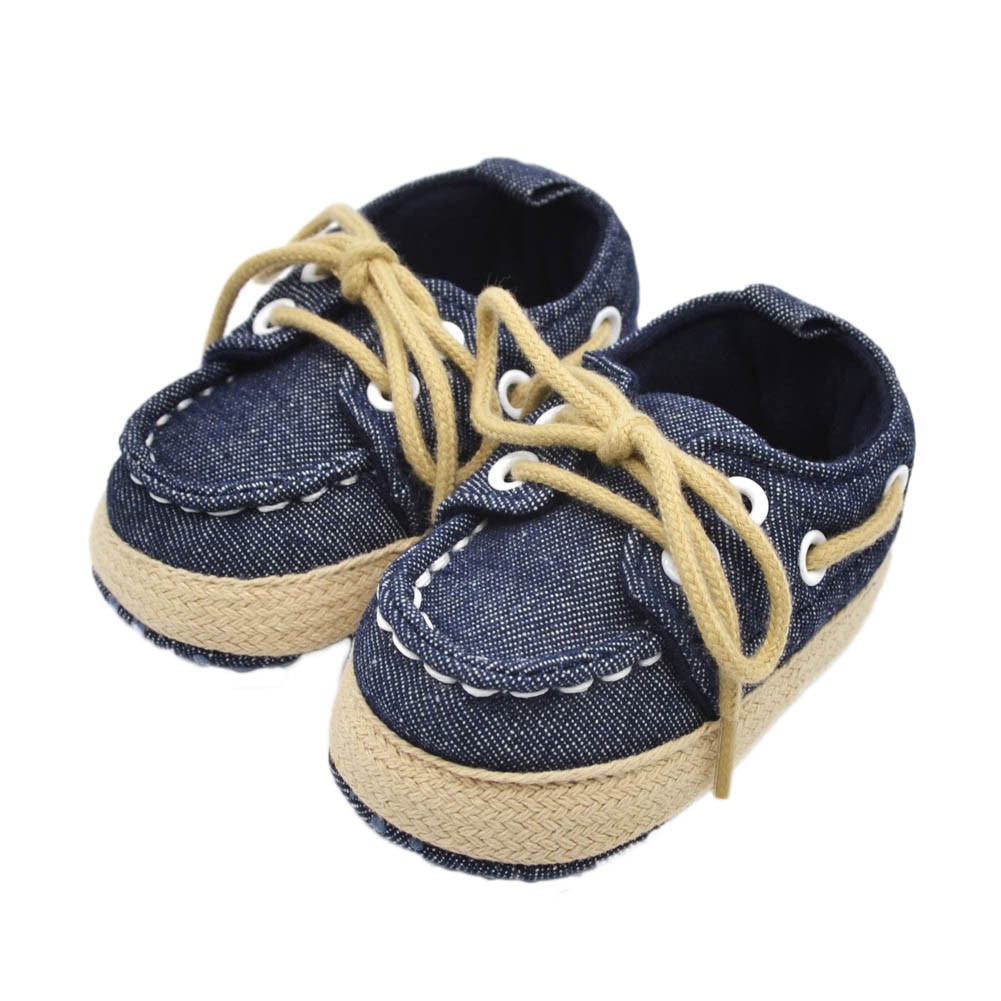 1 Pair Baby Boy Girl Crib Soft Bottom Shoes Infant Toddler Shoes Sneaker Fit 0-18 Months