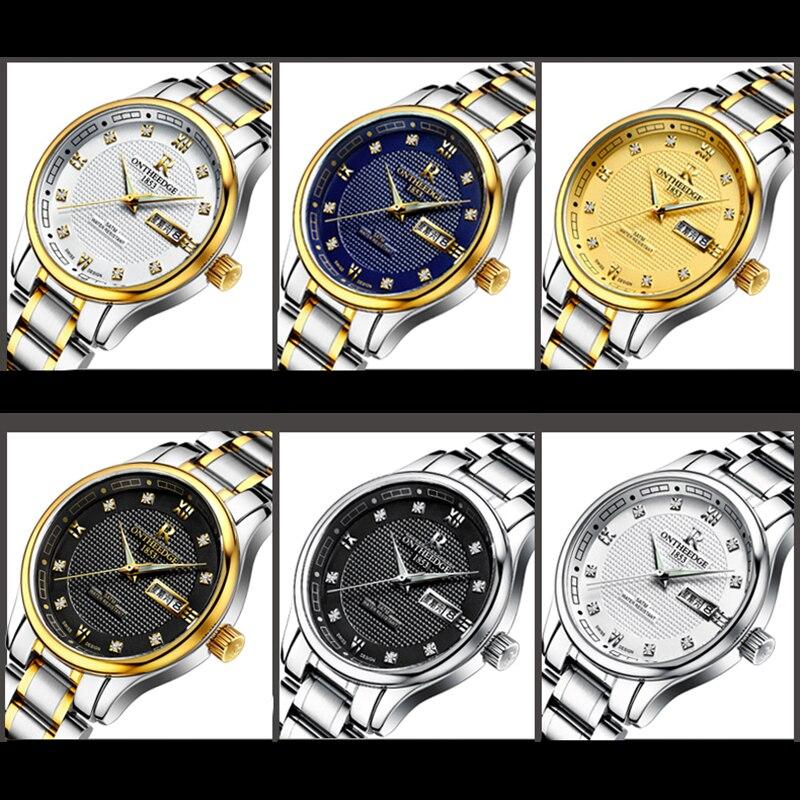 RONTHEEDGE Reloj de Cuarzo Hombres Top Marca Analógico Militar - Relojes para hombres - foto 3