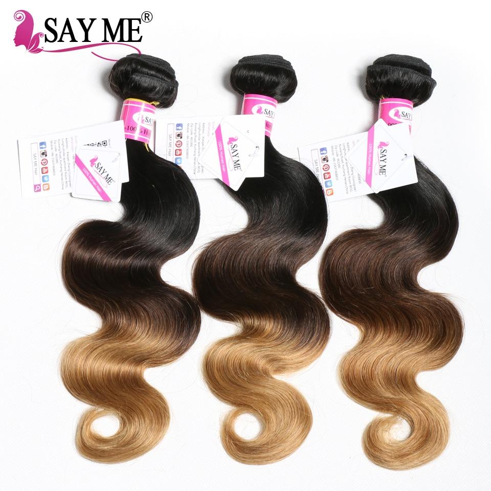 Honey Blonde Ombre Brazilian Body Wave Hair Weave Bundles 1b 4 27 Blonde Remy Human Hair