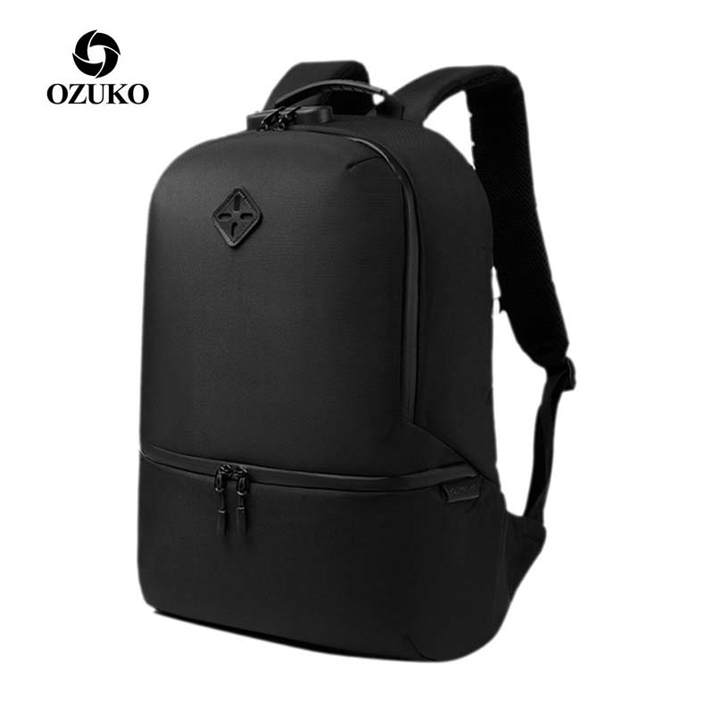 Casual Anti-theft Backpack Men Waterproof Backpacks For Teenager USB Charging 15.6 Inch Laptop Backpack Male Travel Bag Mochila