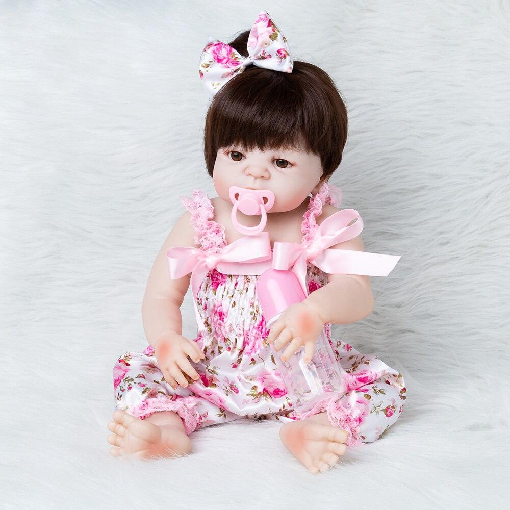 Bebes Reborn poupée corps entier silicone poupée fille Reborn bébé poupée jouet de bain réaliste nouveau-né princesse victoria Bonecas Menina