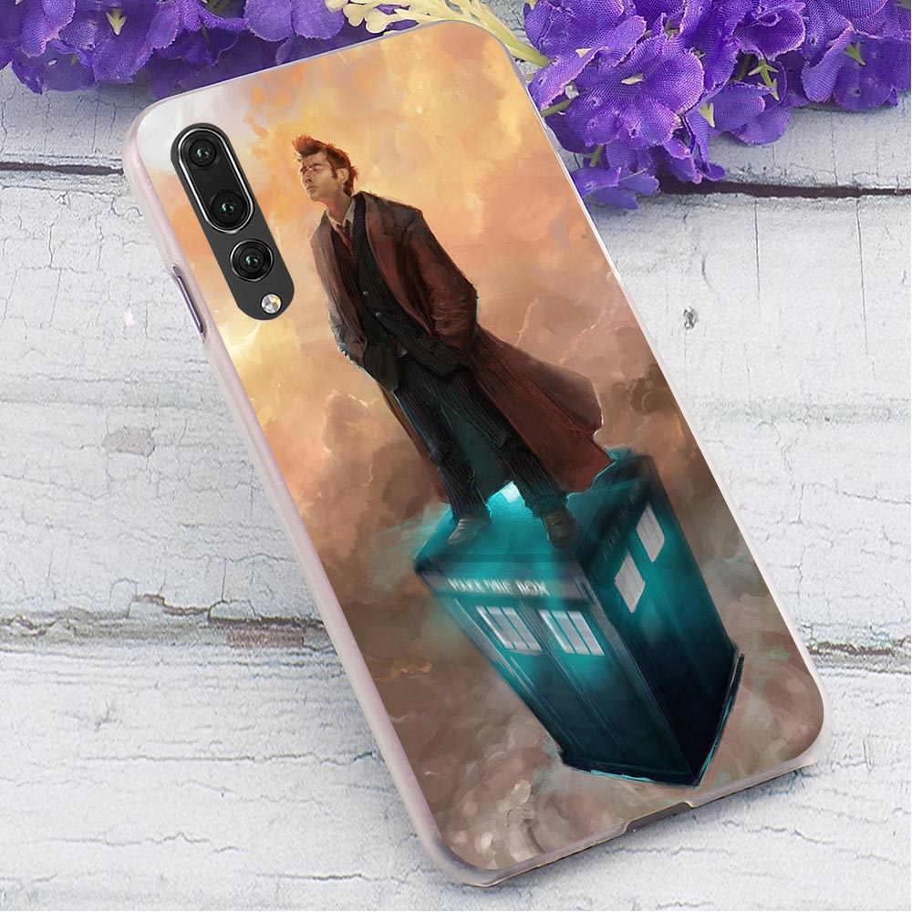 Police Box Hard Case for Huawei Mate 20 Lite Hybrid Phone Cover for Huawei P10 Lite P20 Pro P Smart 2019 Covers Back in Fitted Cases from Cellphones Telecommunications