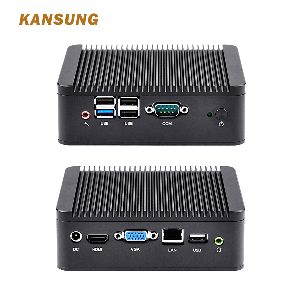 Cheap 12v Fanless Mini Pc Computer Personal Server Assemble Desktop Celeron J1900 Quad Core Processor KANSUNG Industrial Imini