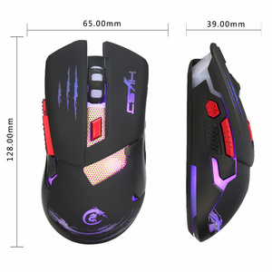 Image 3 - HXSJ H400 LED Backlight Metal Base Wired Gaming Mouse 6 Buttons LED Programming Competitive Games Mice for Computer