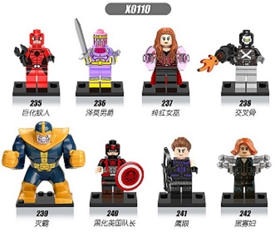 Super Heroes Hawkeye Black Widow Thanos Antman Baron Zemo Scarlet Witch Hydra Captain America Building Blocks Kids Toys X0110 single sale super heroes gi joe series matt with junkyard dog firefly snow job power girl building blocks kids gift toys kf6028