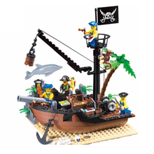 Enlighten  Pirates of the Caribbean Scrap Dock Ship Building Blocks Castle DIY Fingure Bricks educational Toys Gifts enlighten pirate ships model compatible legoinglys warship boats castle caribbean pirates medieval figures building blocks toys page 8 page 9