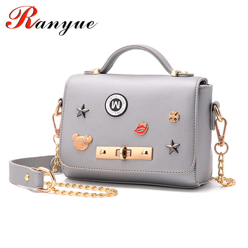 RANYUE Chain Handbags PU Leather Women Shoulder Bags 2017 Famous Brand Cute Flap Bag For Girls