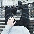Heyguys 2016 calças de brim dos homens homens de rua calças lavadas magros elásticas de jeans denim jeans motociclista hiphop jeans preto homens azuis