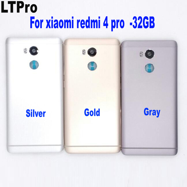 LTPro NEW for Xiaomi Redmi 4 Pro / Redmi 4 Prime Battery Door Cover Housing Back Cover with Power Volume Buttons+Camera Lens