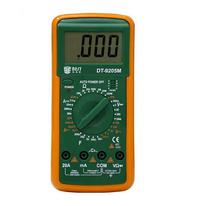 Multimeter DT-9205M Upgraded version Wholesale BEST 9205M Handheld LCD Screen Digital Multimeter With buzzer Test Meter dt830b handheld digital multimeter electrician with a to send meter pen