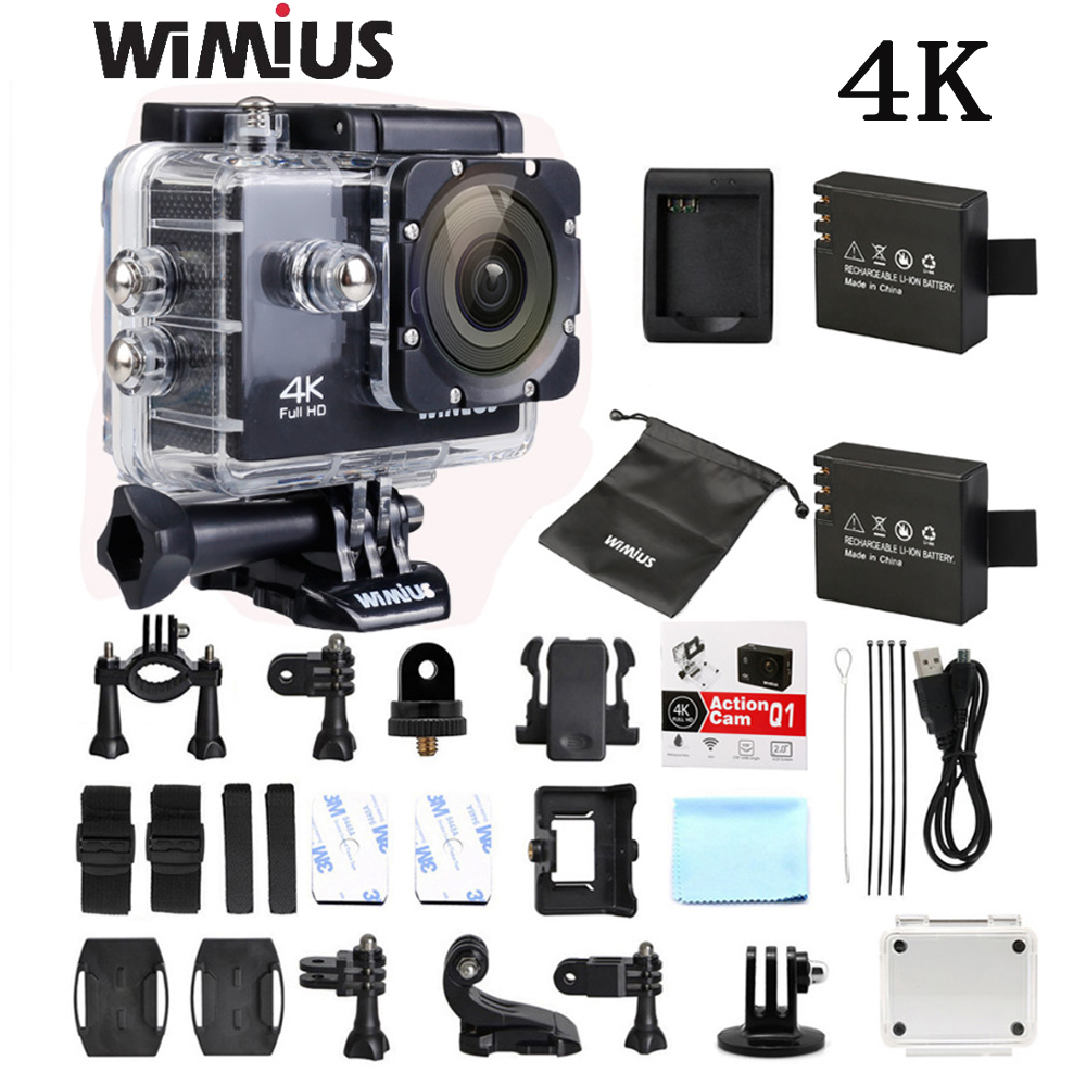 Wimius 4K WiFi Sports Action Camera Mini Full HD 1080P 60fps Cam Video Outdoor Helmet Camara Go 40M Diving Waterproof Pro DVR DV