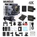 Wimius 4 k wifi divierte la cámara mini full hd 1080 p 60fps Cam Video Camara Casco Al Aire Libre Ir 40 M Impermeable de Buceo Pro DVR DV