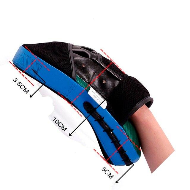 High Quality Sanda y damskie foot pad taekwondo protector equipment boxing pads target feet to baffle Blue