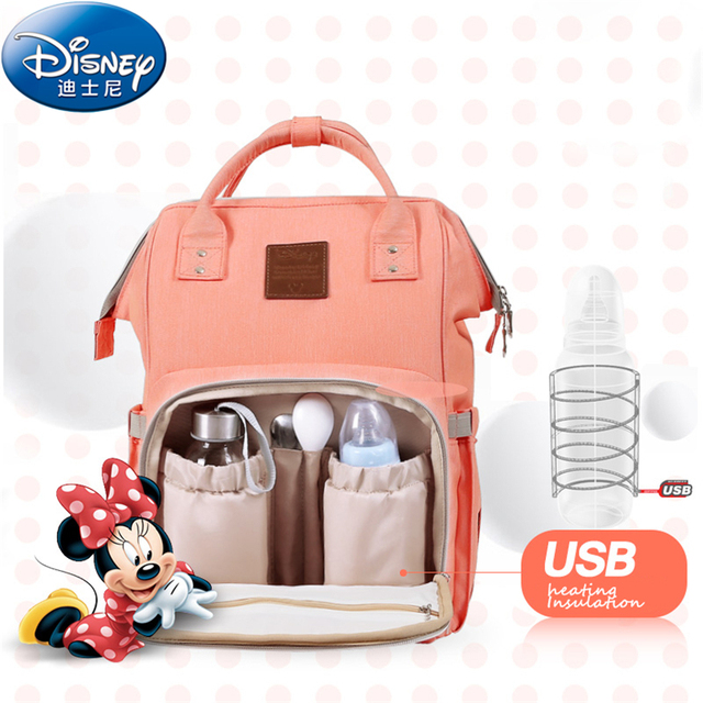 Disney Thermal Insulation Bag High Capacity Baby Feeding Bottle Bags Backpack Care Diaper