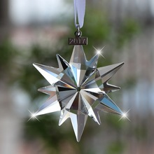 купить Crystal Snowflake Car Pendant Hanging Ornaments Auto Interior Rearview Mirror Decor Dangle Adornment Accessories по цене 903.37 рублей