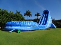 18X6M Inflatable water slide with the swimming pool game for kids,outdoor inflatable children playground,kids slide on sale