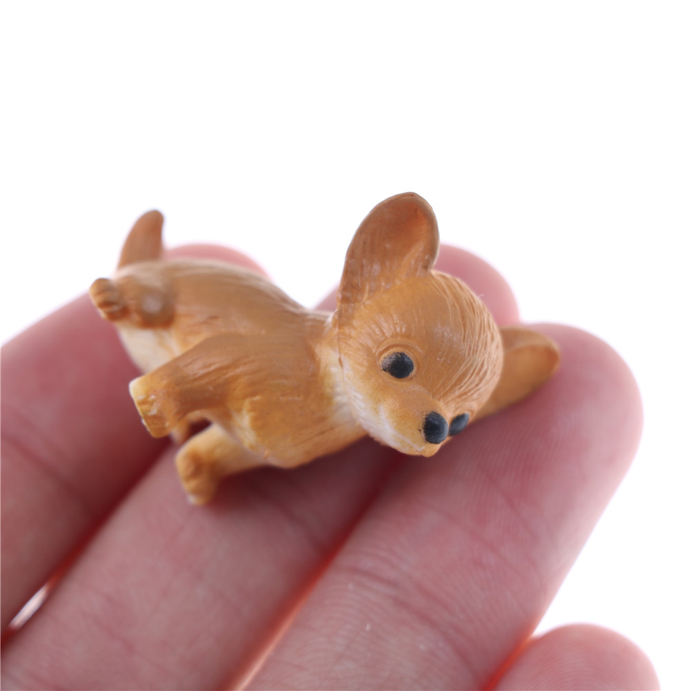 simulation cat and dog Dollhouse Miniature Model Doll ...